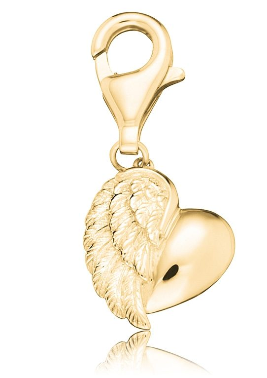 Charms-Einhänger, »Herzflügel, ERC-HEARTWING-G«, Engelsrufer