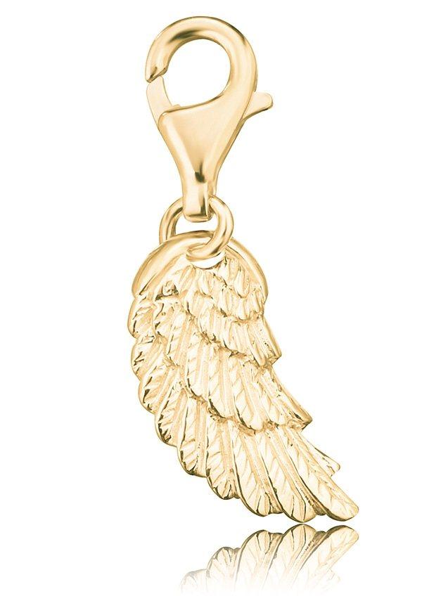 Charms-Einhänger, »Flügel, ERC-WING-G«, Engelsrufer in silber 925/vergoldet