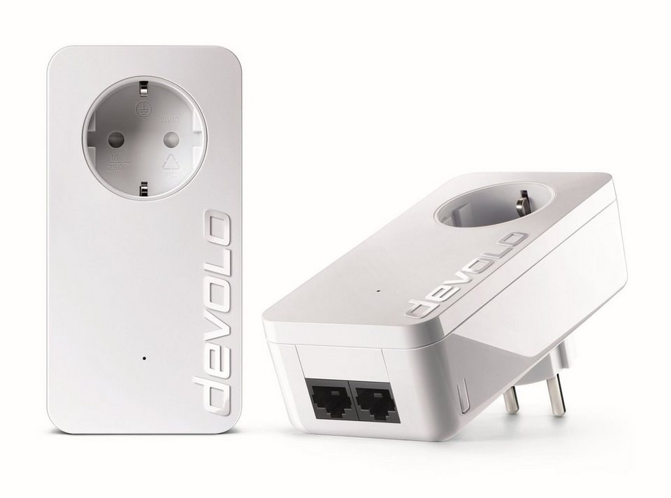 DEVOLO Powerline »dLAN 550 duo+ Kit (500Mbit, 2xLAN,Netzwerk,range+)« in weiß