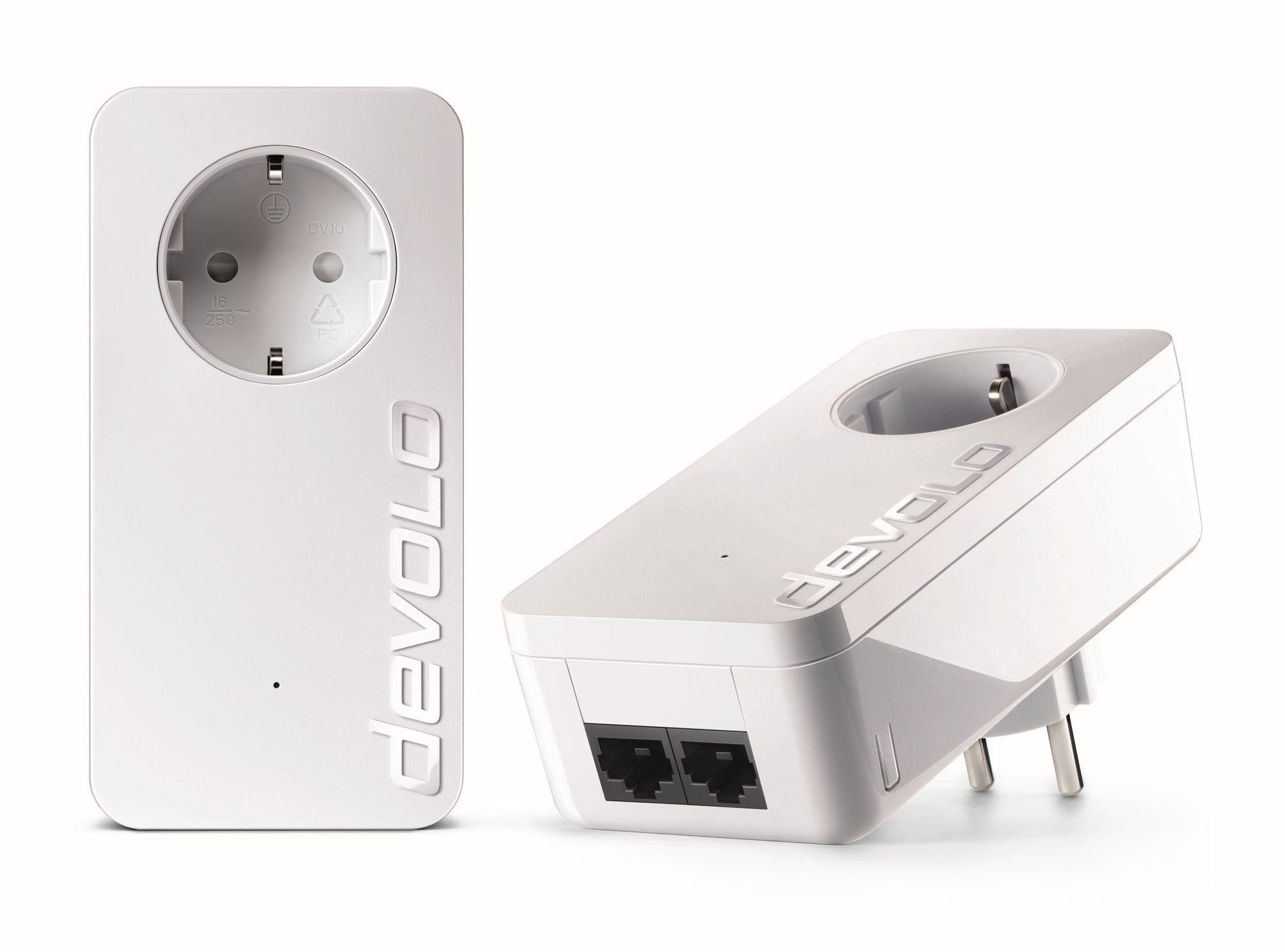 DEVOLO Powerline »dLAN 550 duo+ Kit (500Mbit, 2xLAN,Netzwerk,range+)«
