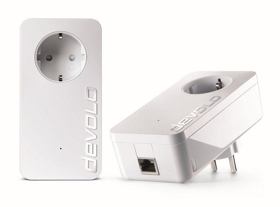 DEVOLO Powerline »dLAN 1200+ Kit (1200Mbit,1xGB LAN,Netzwerk,range+)« in weiß