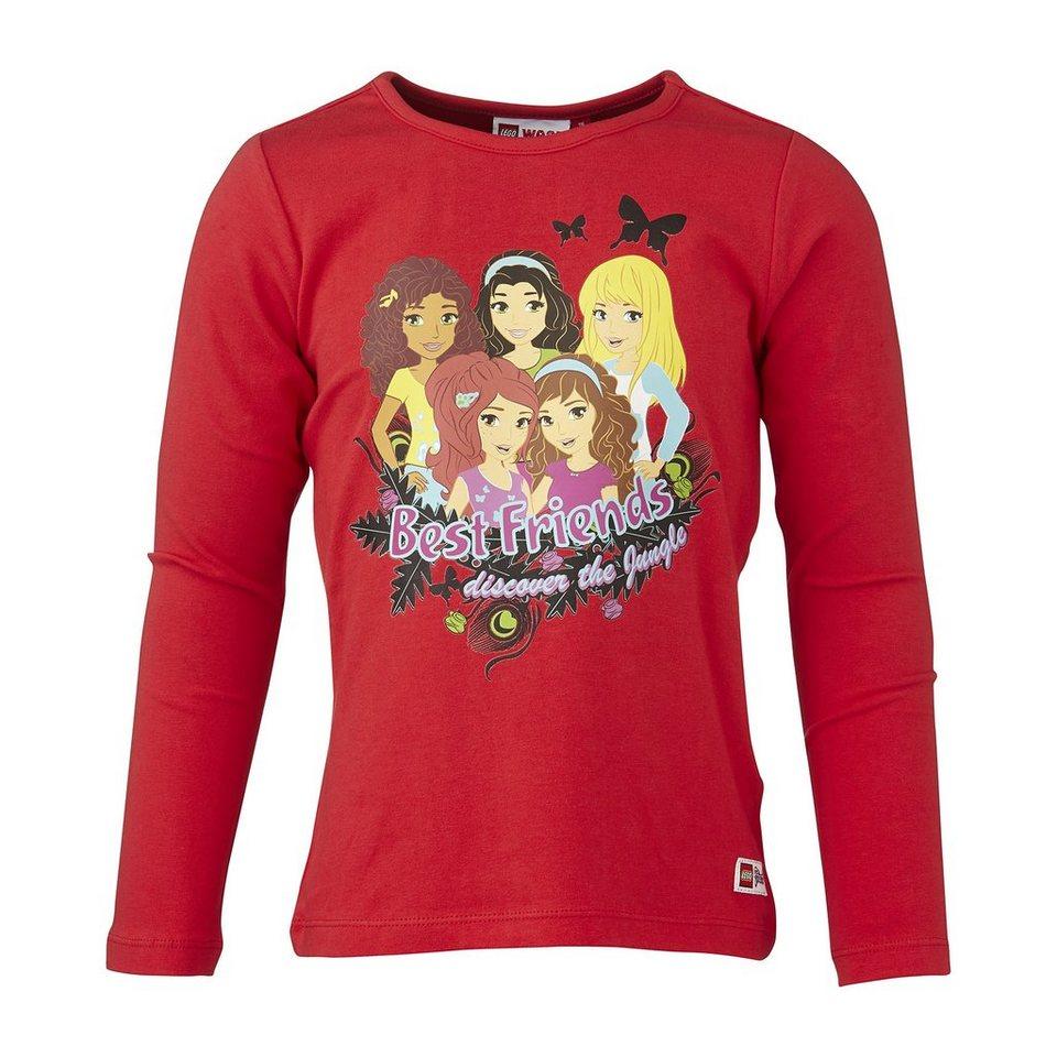 "LEGO Wear Langarm T-Shirt LEGO® Friends Theodora ""Best Friends discover th in rot"