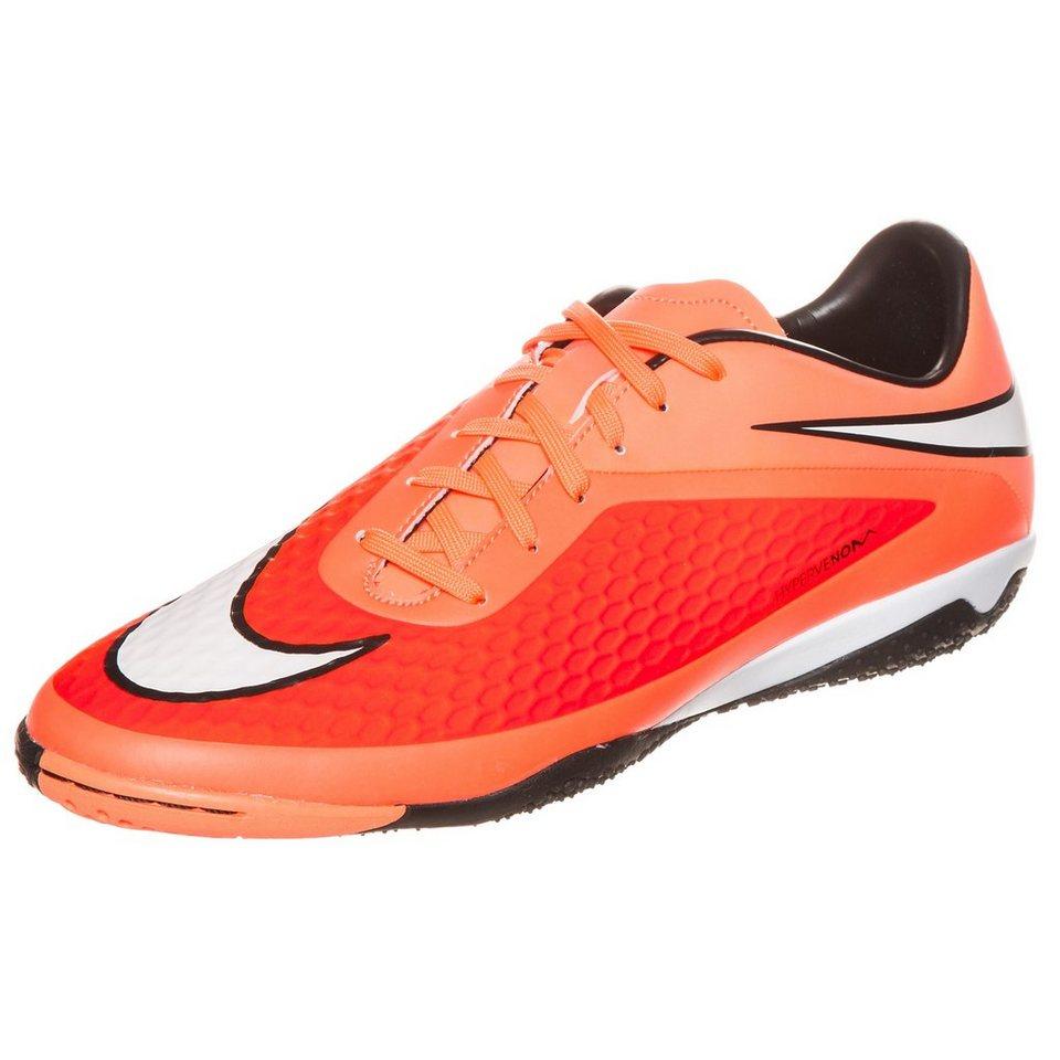 NIKE Hypervenom Phelon Indoor Fußballschuh Herren in orange / rot / weiß