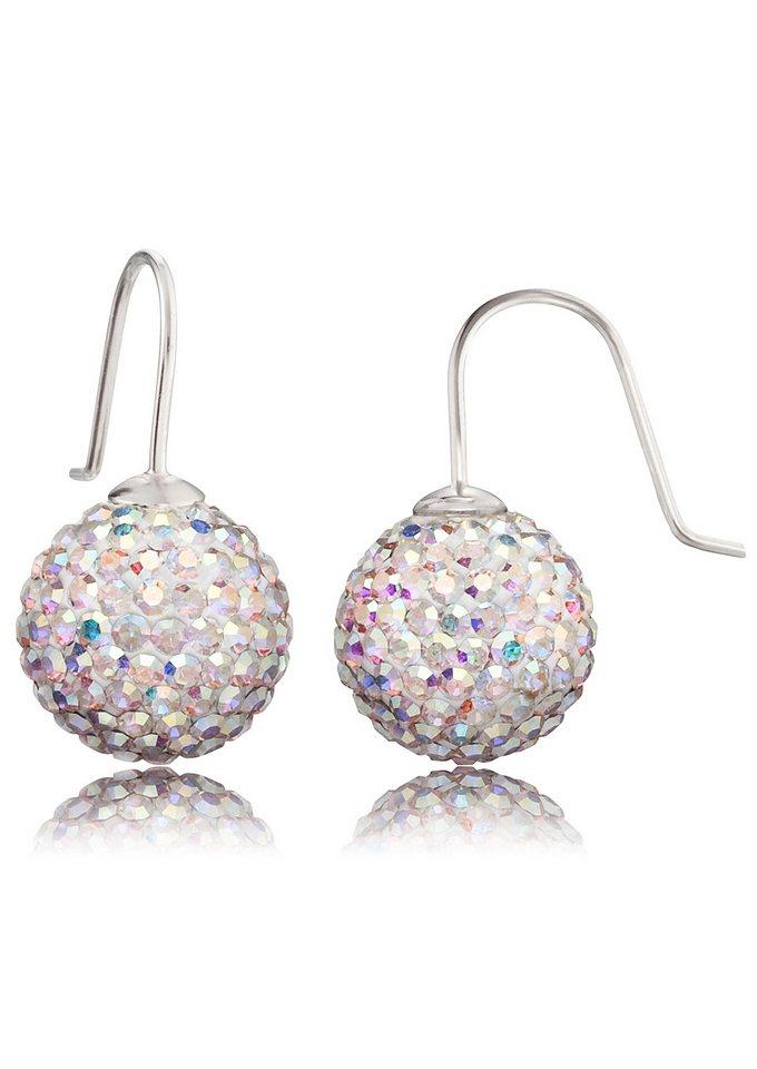 Engelsrufer, Paar Ohrhaken »Crystal Ball weiß, ERE-01-ZI« in Silber 925/weiß
