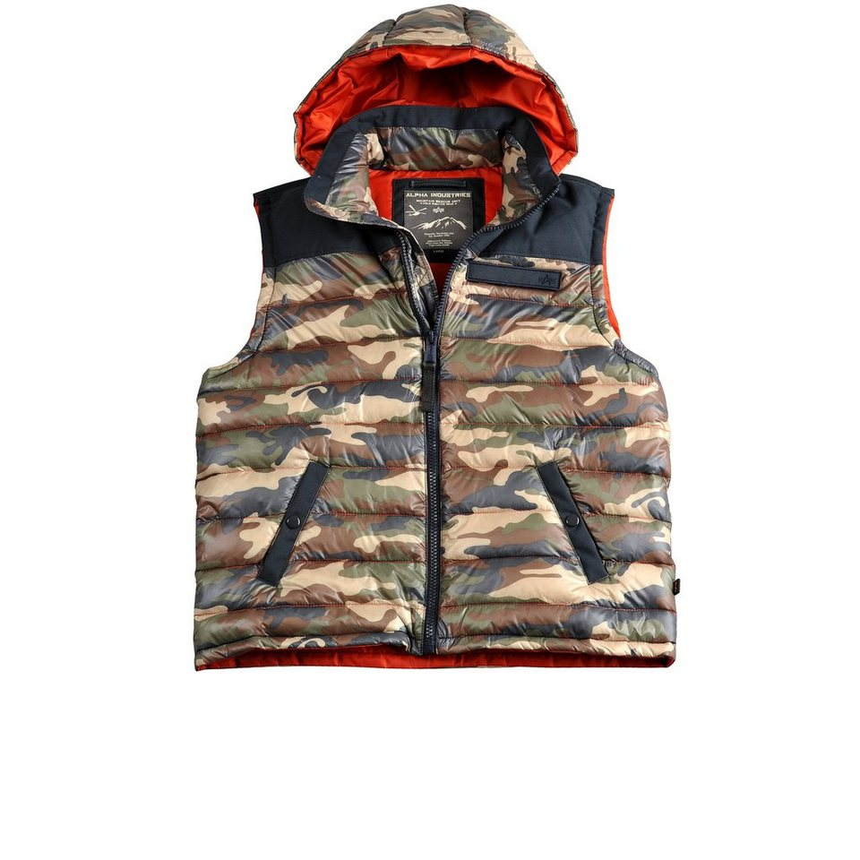 ALPHA INDUSTRIES Jacke »Expedition Down Vest« in woodl.-camo