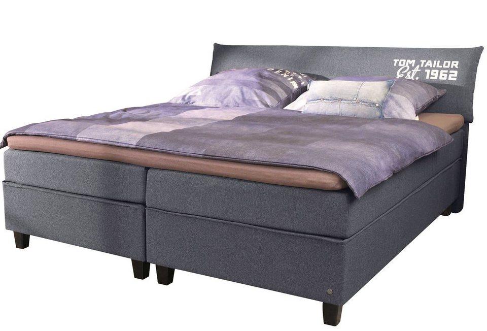 tom tailor boxspringbett color box struktur mit tom. Black Bedroom Furniture Sets. Home Design Ideas
