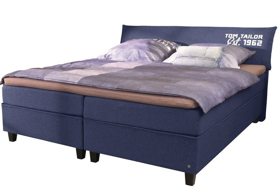 tom tailor boxspringbett color box webstoff mit tom. Black Bedroom Furniture Sets. Home Design Ideas