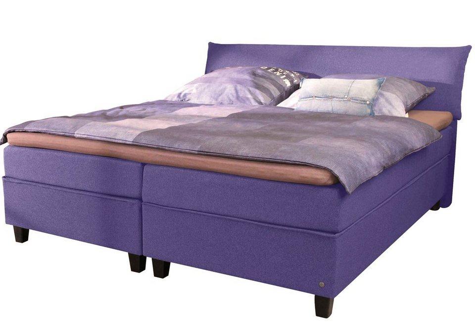 TOM TAILOR Boxspringbett »COLOR BOX«, Luxus-Microfaser in violet TGU 29