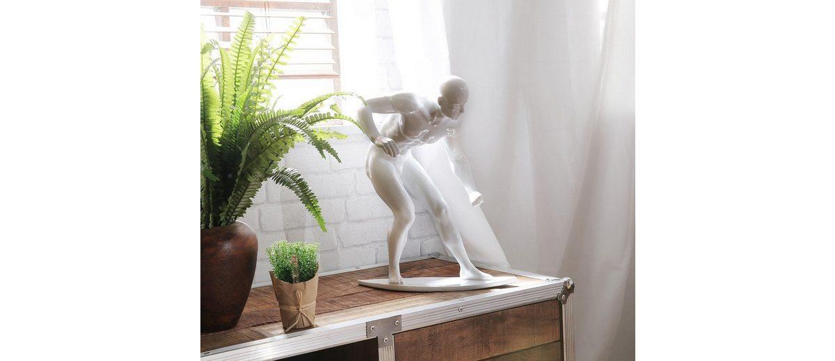 DELIFE Dekofigur Surfer Weiss 33x41 cm Hochglanz Skulptur