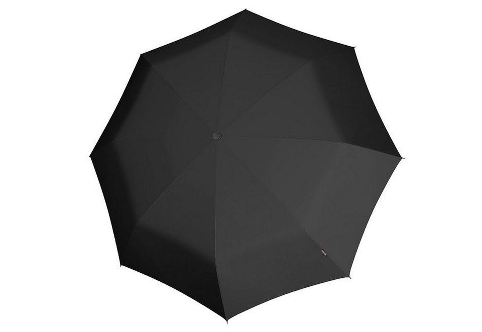 Knirps Taschenschirm, »T3 Duomatic - Schwarz« in schwarz