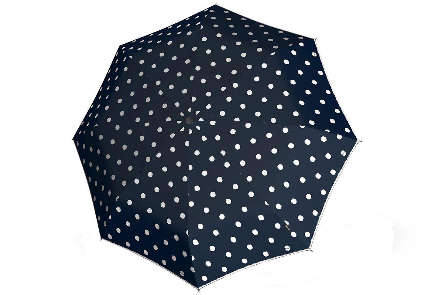 Knirps Regenschirm, »Stick Langschirm Automatik - Punkte blau«
