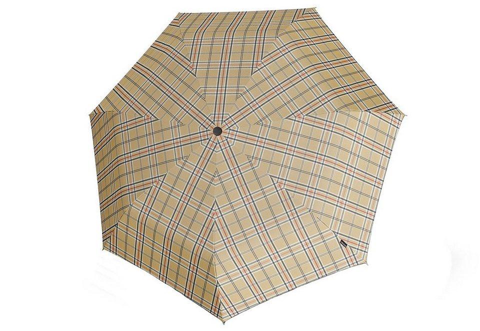 Knirps Mini Taschenschirm, »Piccolo - Karo beige« in bunt