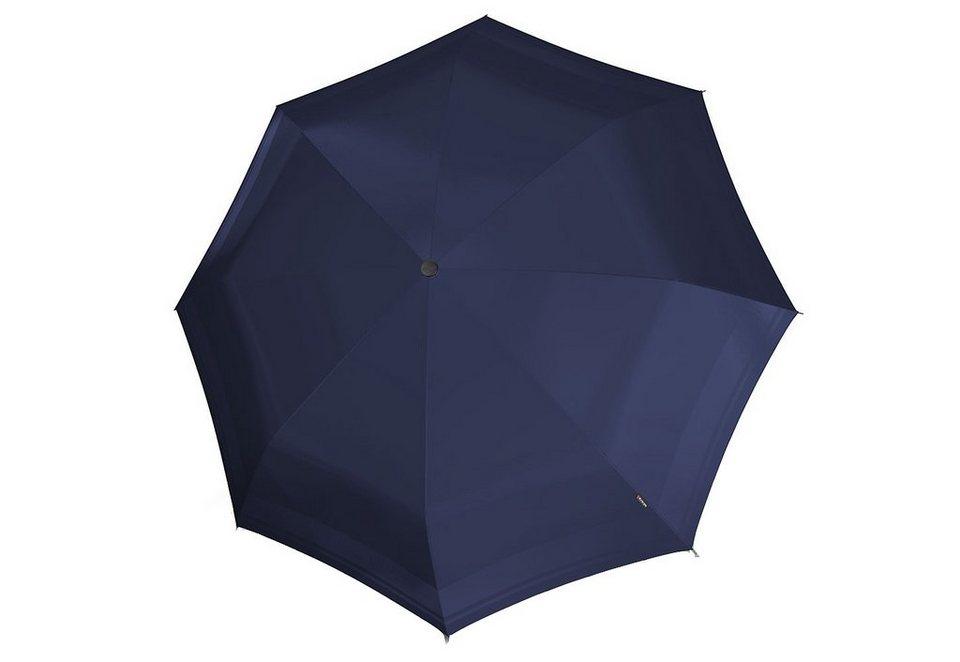 Knirps Taschenschirm, »T2 Duomatic - Blau« in blau
