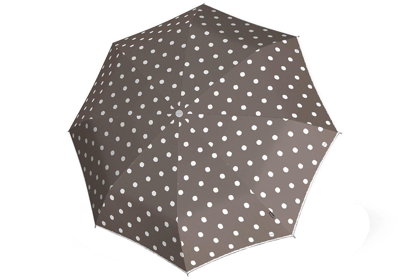 Knirps Regenschirm, »Stick Langschirm Automatik - Punkte taupe«