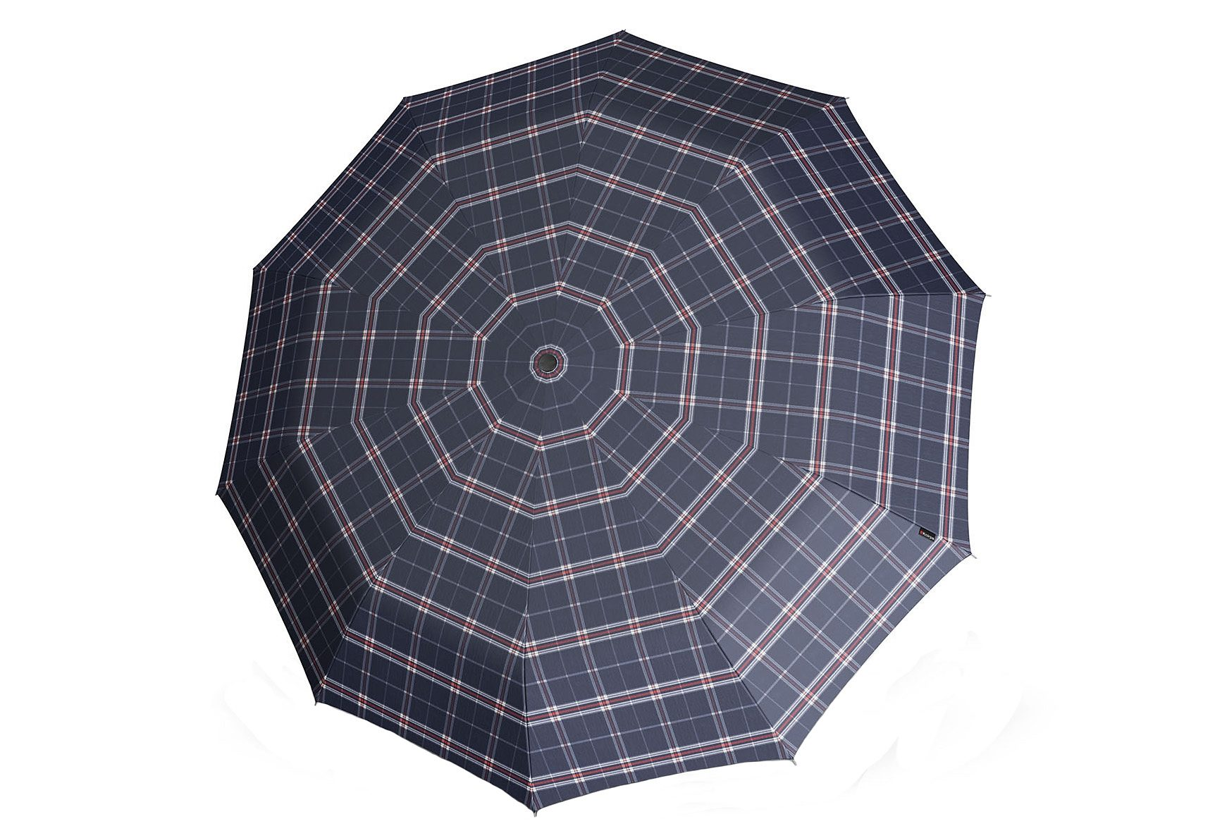 Knirps Regenschirm, »Long Automatik - Karo blau«
