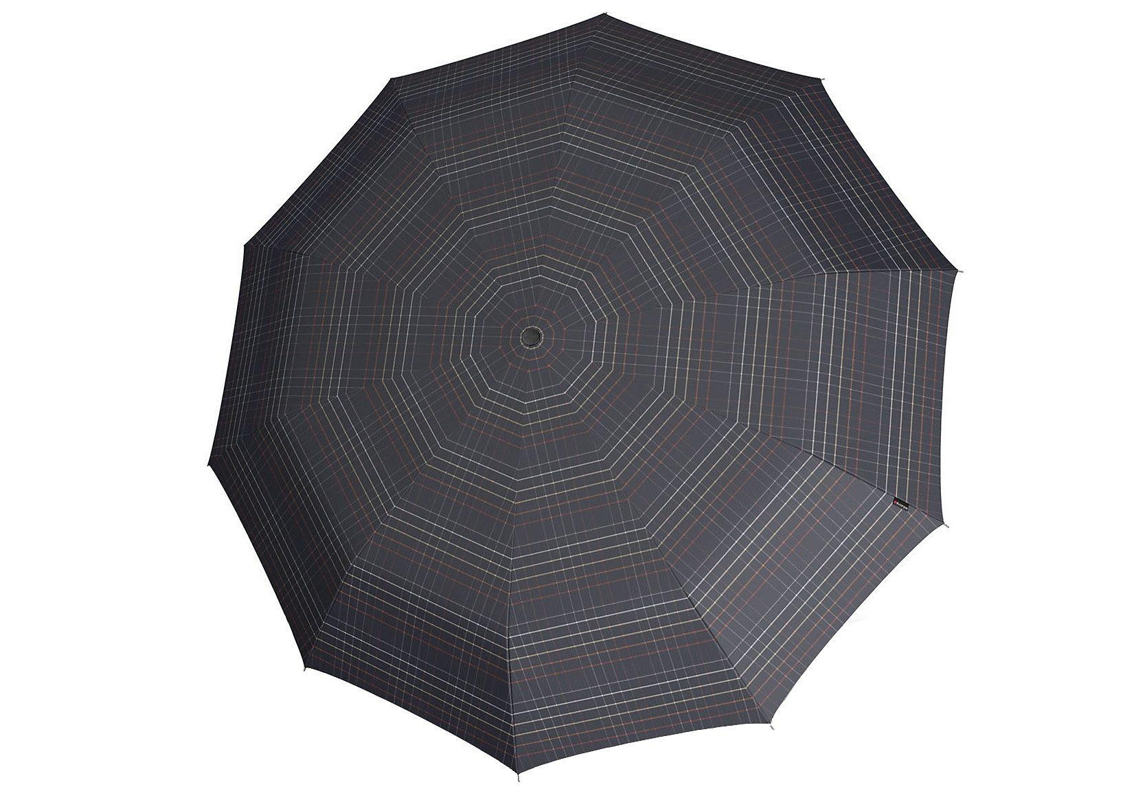 Knirps Regenschirm, »Long Automatik - Karo schwarz«