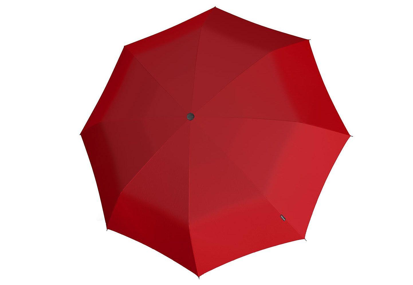 Knirps Taschenschirm, »T2 Duomatic - Uni rot«