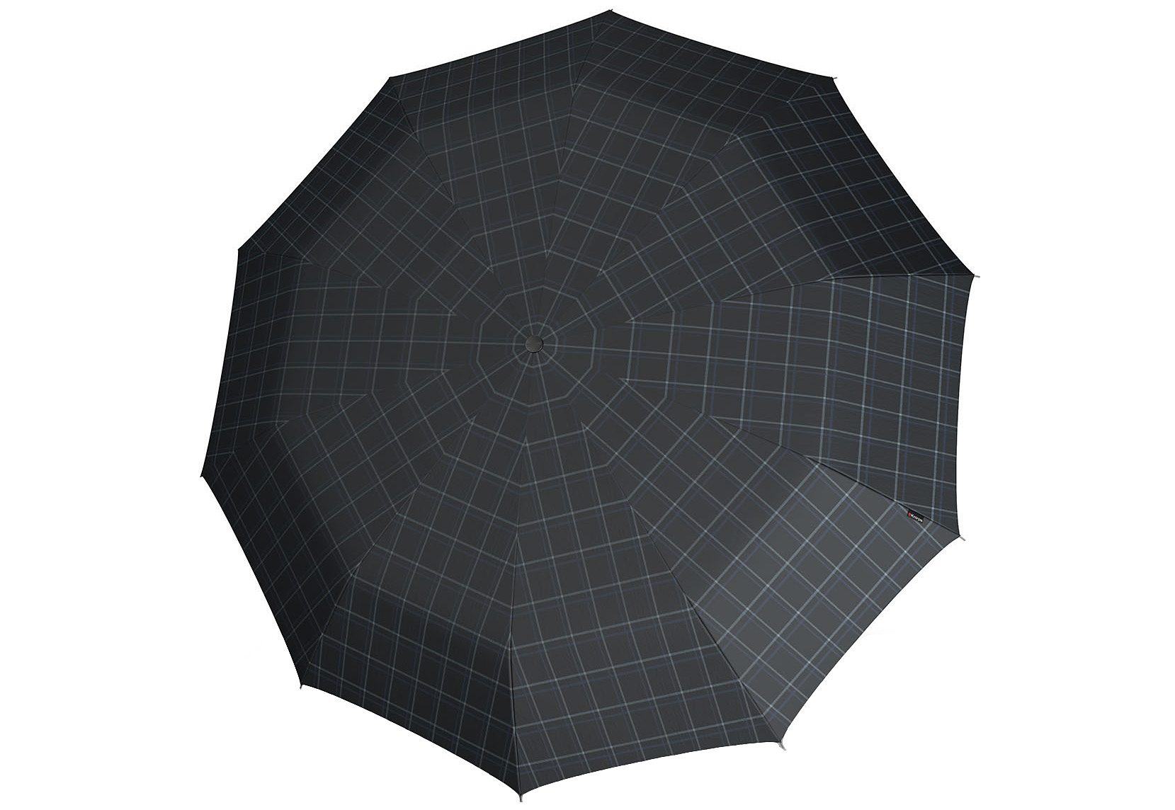 Knirps Regenschirm, »Long Automatik - Karo schwarz/grau«