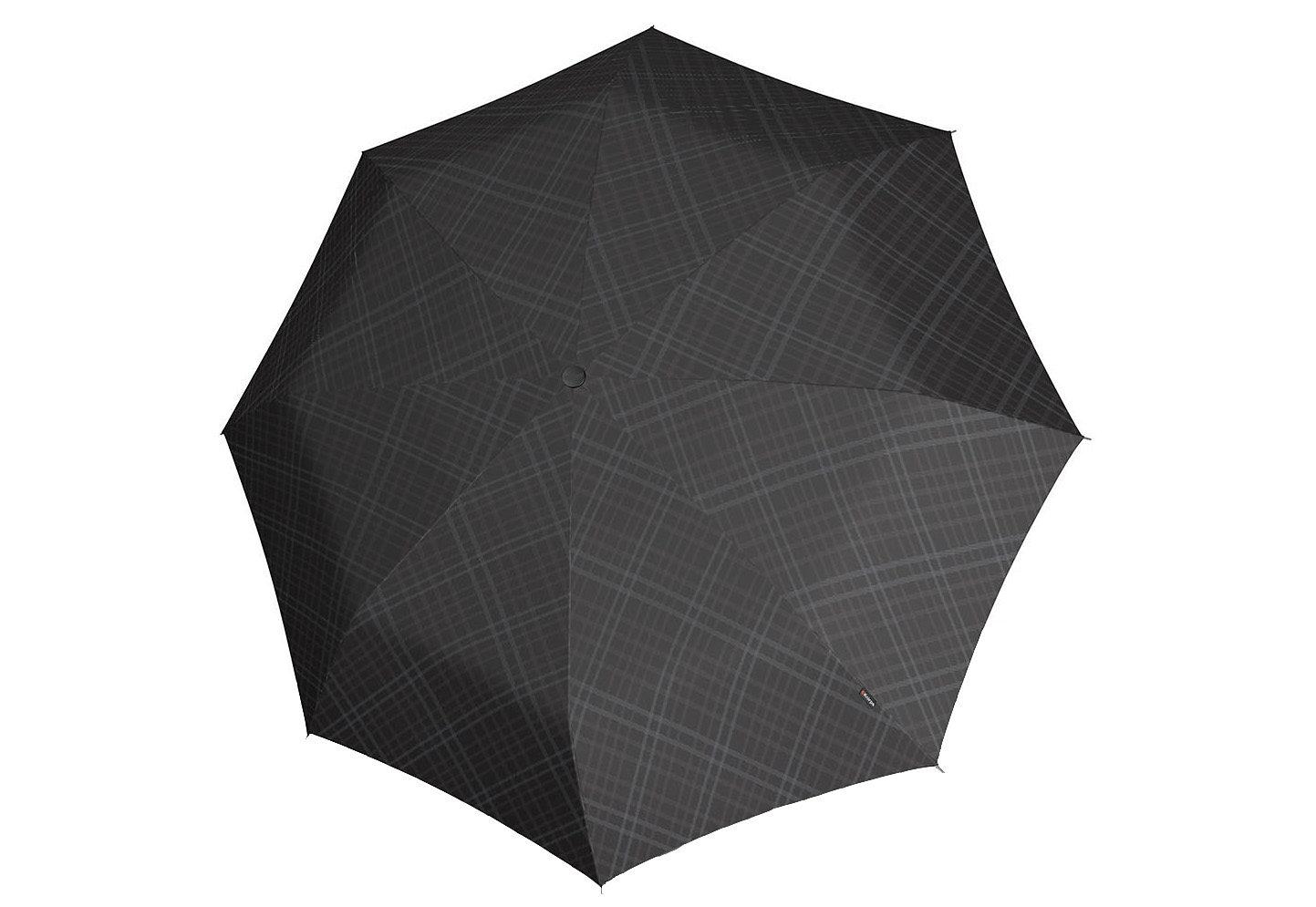 Knirps Taschenschirm, »T2 Duomatic - Karo schwarz/grau«