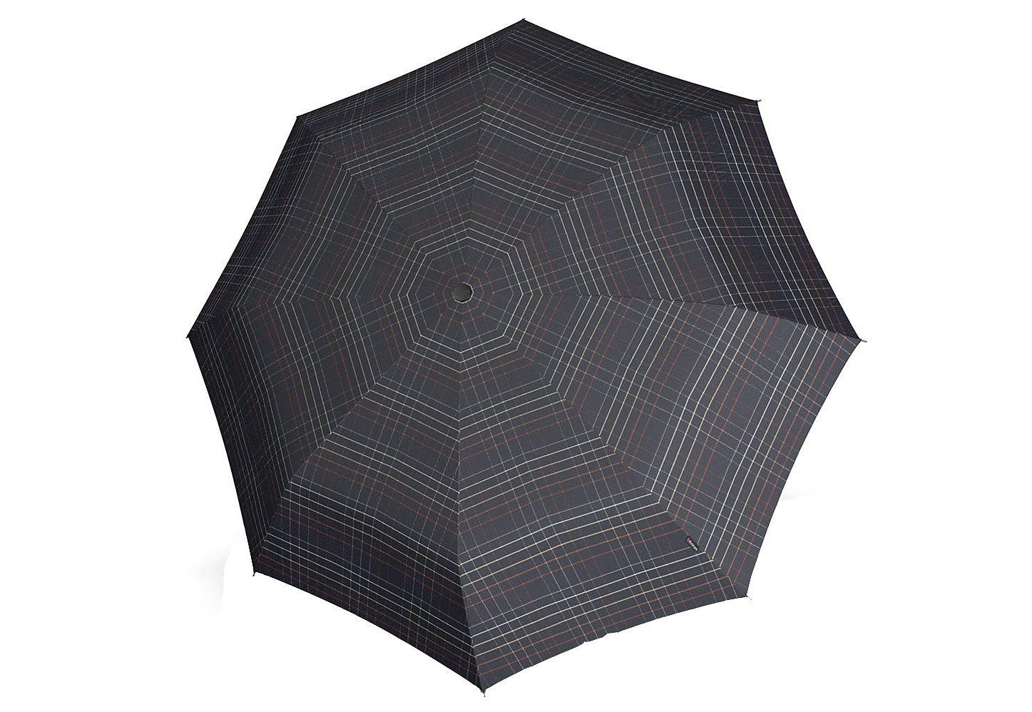 Knirps® Taschenschirm, »T3 Duomatic - Karo klein, schwarz«