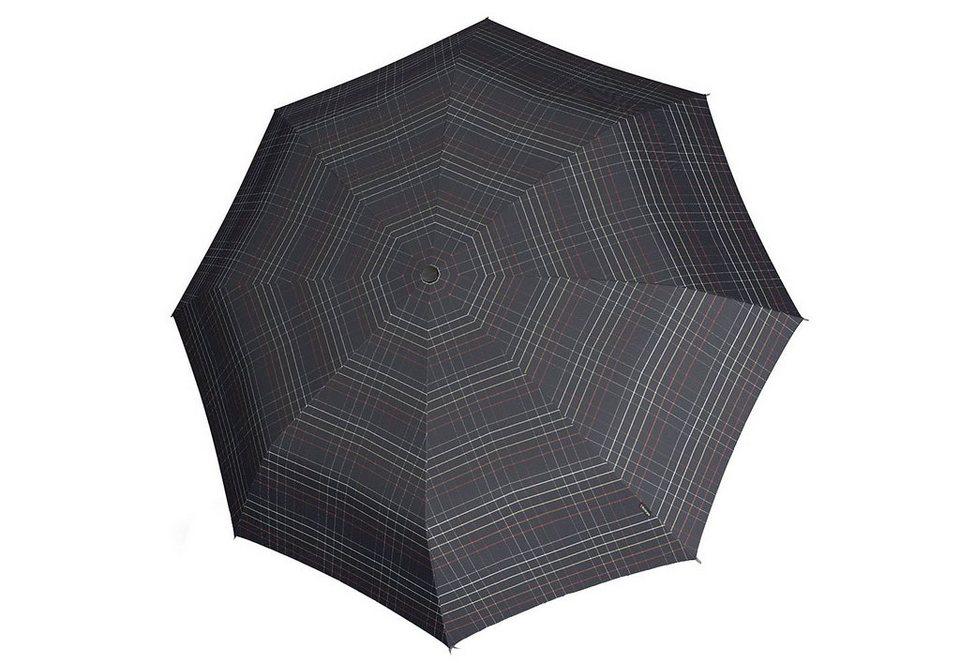 Knirps Taschenschirm, »Minimatic Light - Karo schwarz« in bunt