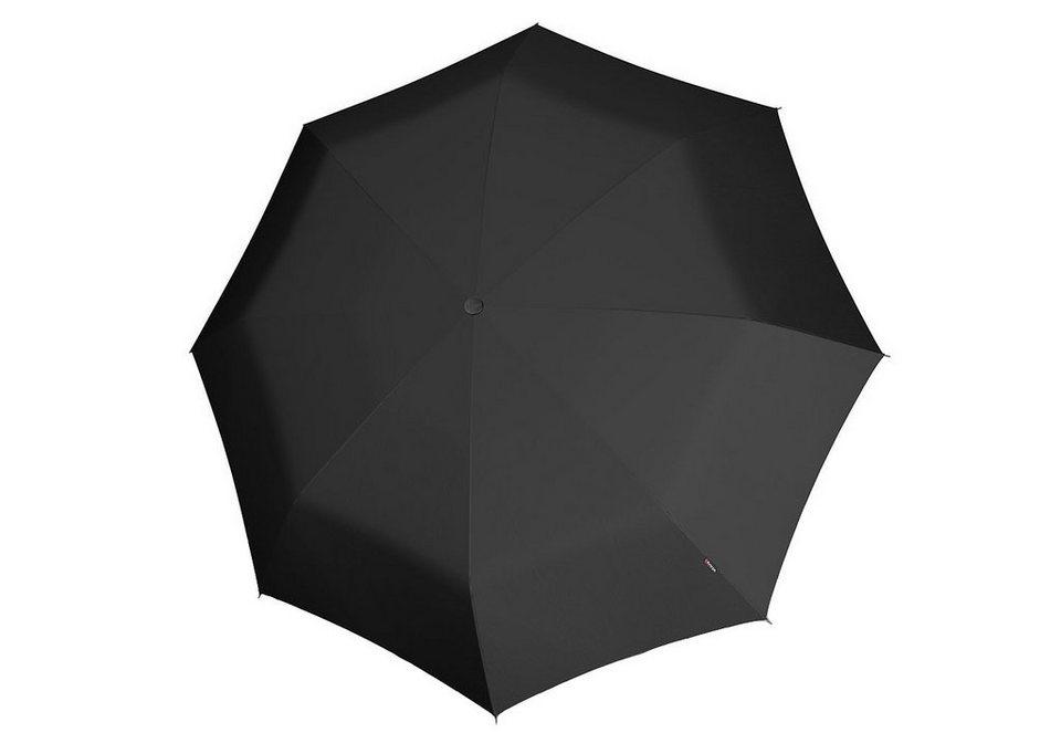 Knirps Taschenschirm, »Minimatic Light - Uni schwarz« in schwarz