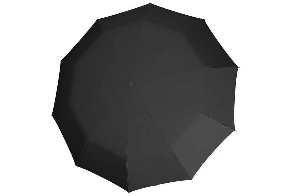 Knirps Regenschirm, »Long Automatik - Schwarz« in schwarz