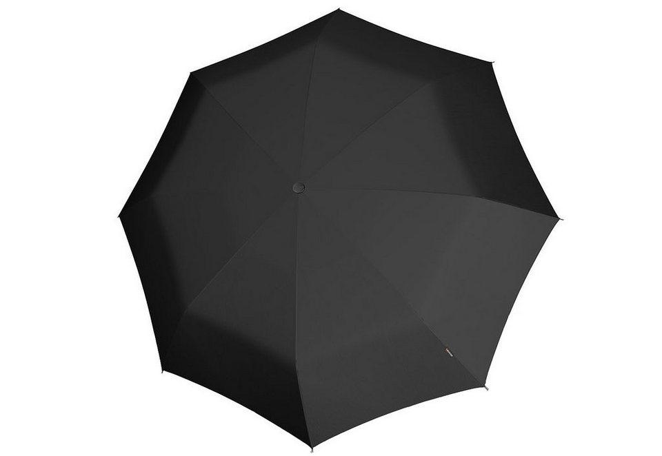 Knirps Mini-Taschenschirm, »X1 - Schwarz« in schwarz