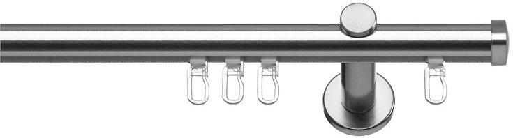 Gardinenstange, Indeko, »Consul«, 1- oder 2-läufig, nach Maß, ø 16 mm in edelstahloptik