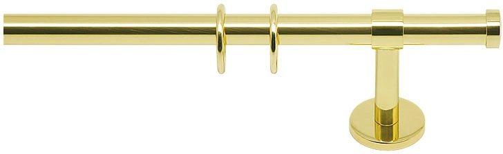 Gardinenstange, Indeko, »Consul«, 1- oder 2-läufig, nach Maß, ø 16 mm in messing-glanz