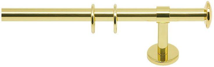 Gardinenstange, Indeko, »Leeds«, 1- oder 2-läufig, nach Maß, ø 16 mm in messing-glanz