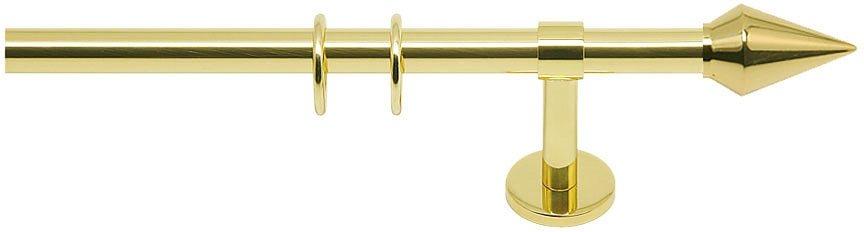 Gardinenstange, Indeko, »Avanti«, 1- oder 2-läufig, nach Maß, ø 16 mm in messing-glanz