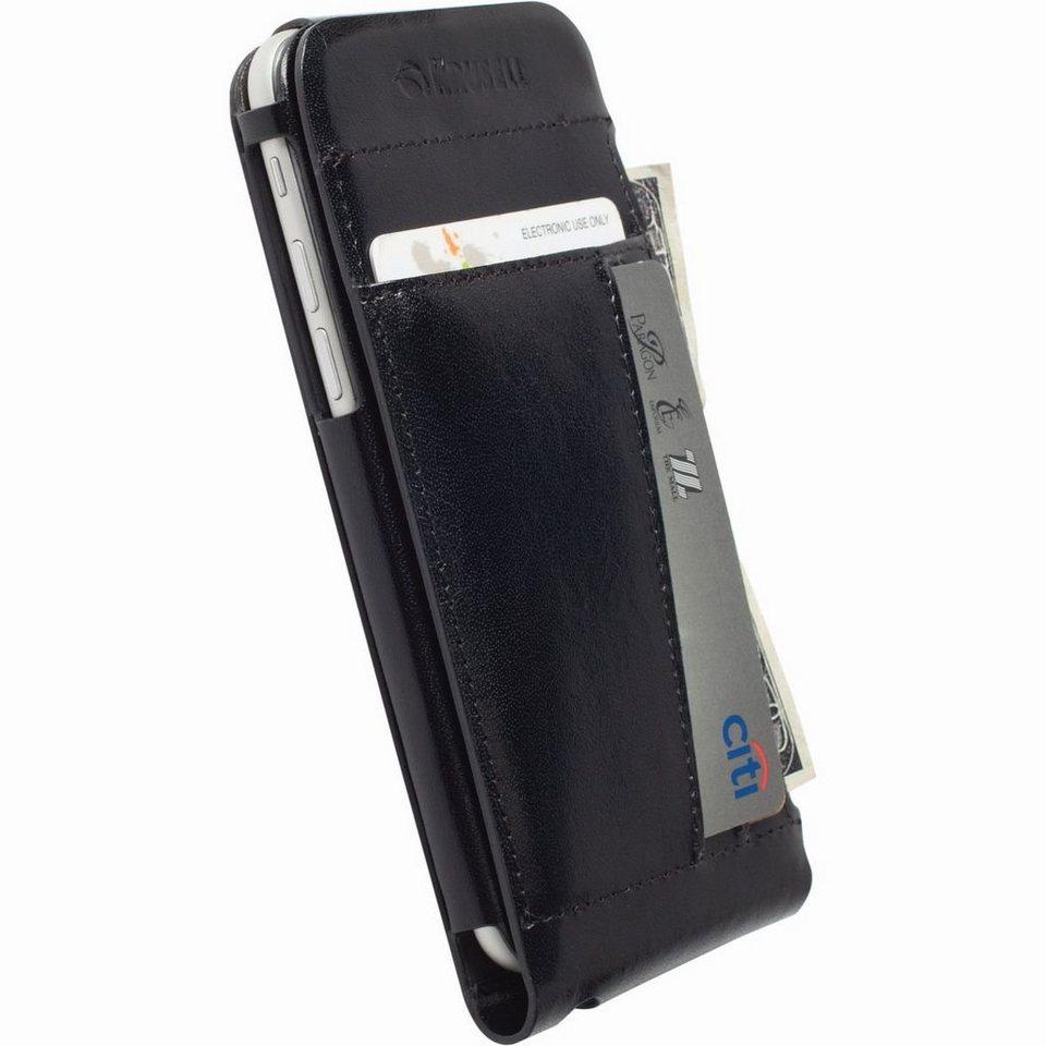 Krusell Handytasche »Echtleder FlipCover Kalmar für iPhone 6, Schwarz« in Schwarz