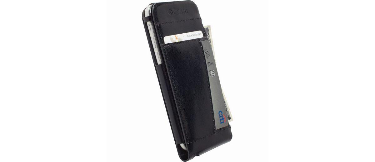 Krusell Handytasche »Echtleder FlipCover Kalmar für iPhone 6, Schwarz«