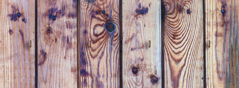 Schlüsselbrett, Home affaire, »Alte Holzwand«, 40/15 cm in Creme