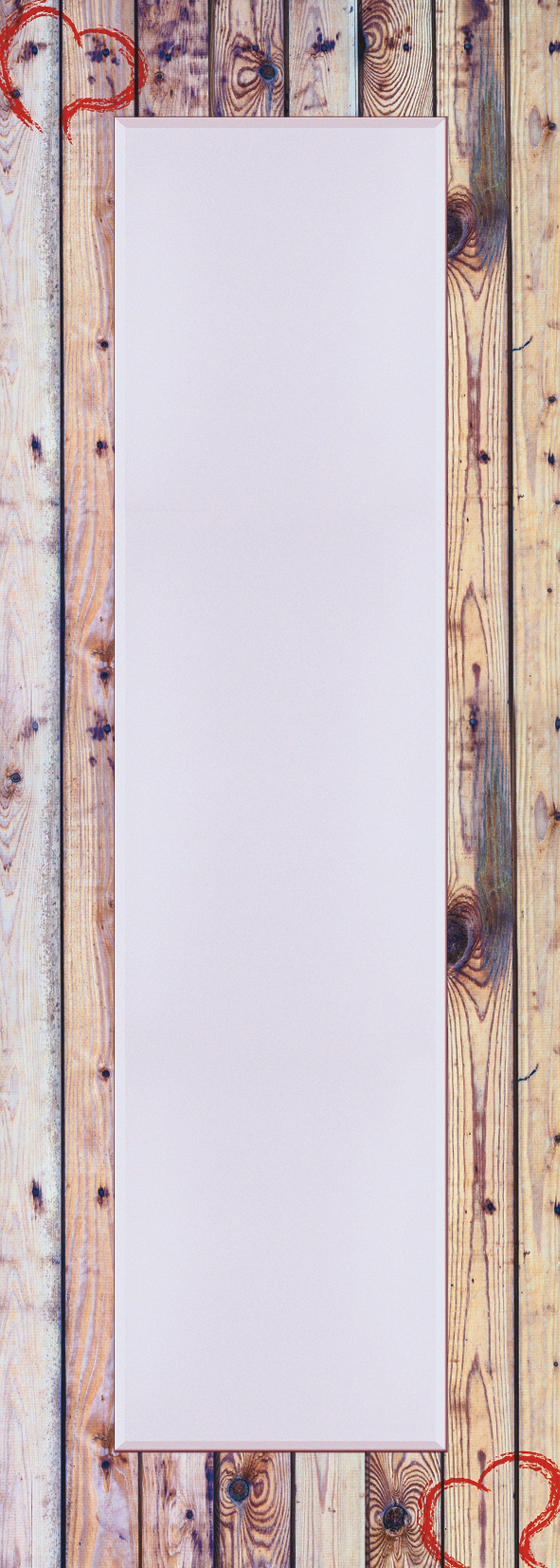 Home affaire, Spiegel, »Alte Holzwand mit Herz«, 50/140 cm