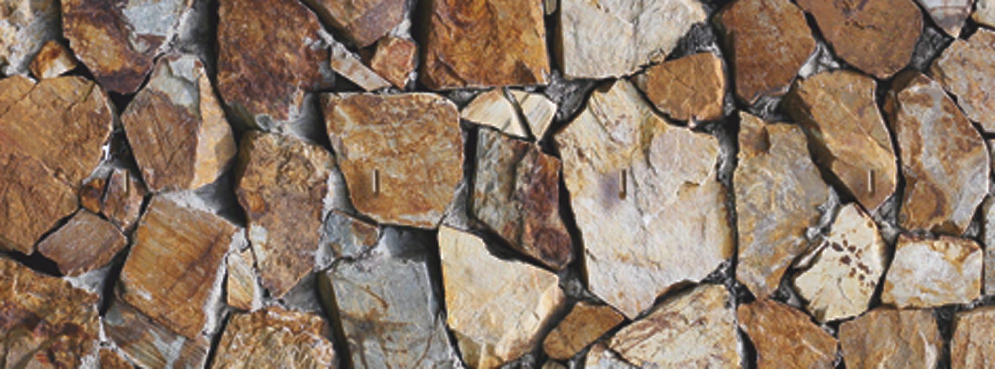 Schlüsselbrett, Home affaire, »Braune Steinwand«, 40/15 cm