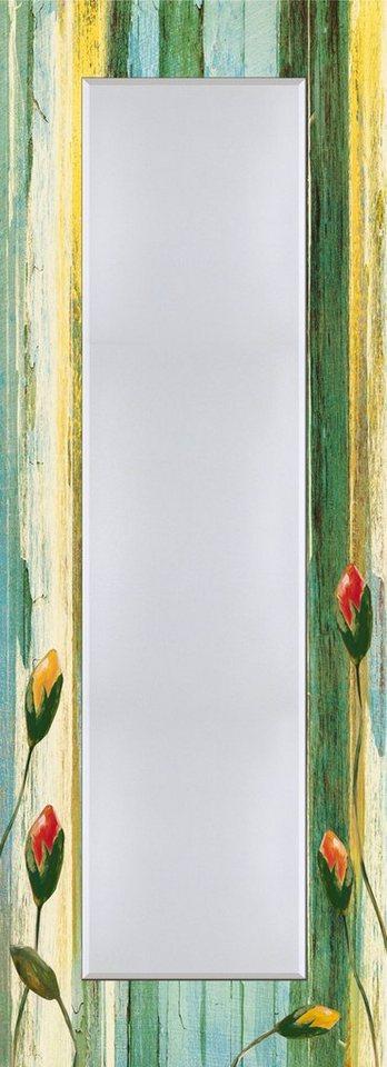 Wandspiegel, Home affaire, »Jule: Bunte Blumen«, 50/140 cm in Bunt