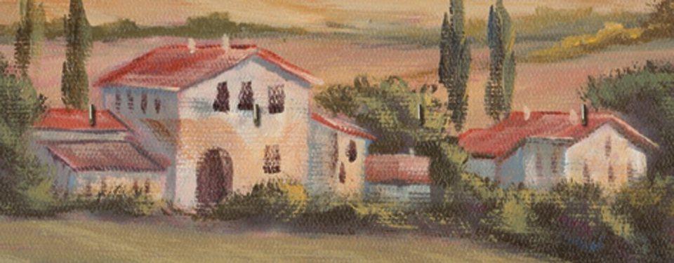 Schlüsselbrett, Home affaire, »A. Heins: Toskanisches Tal I«, 40/15 cm in Creme