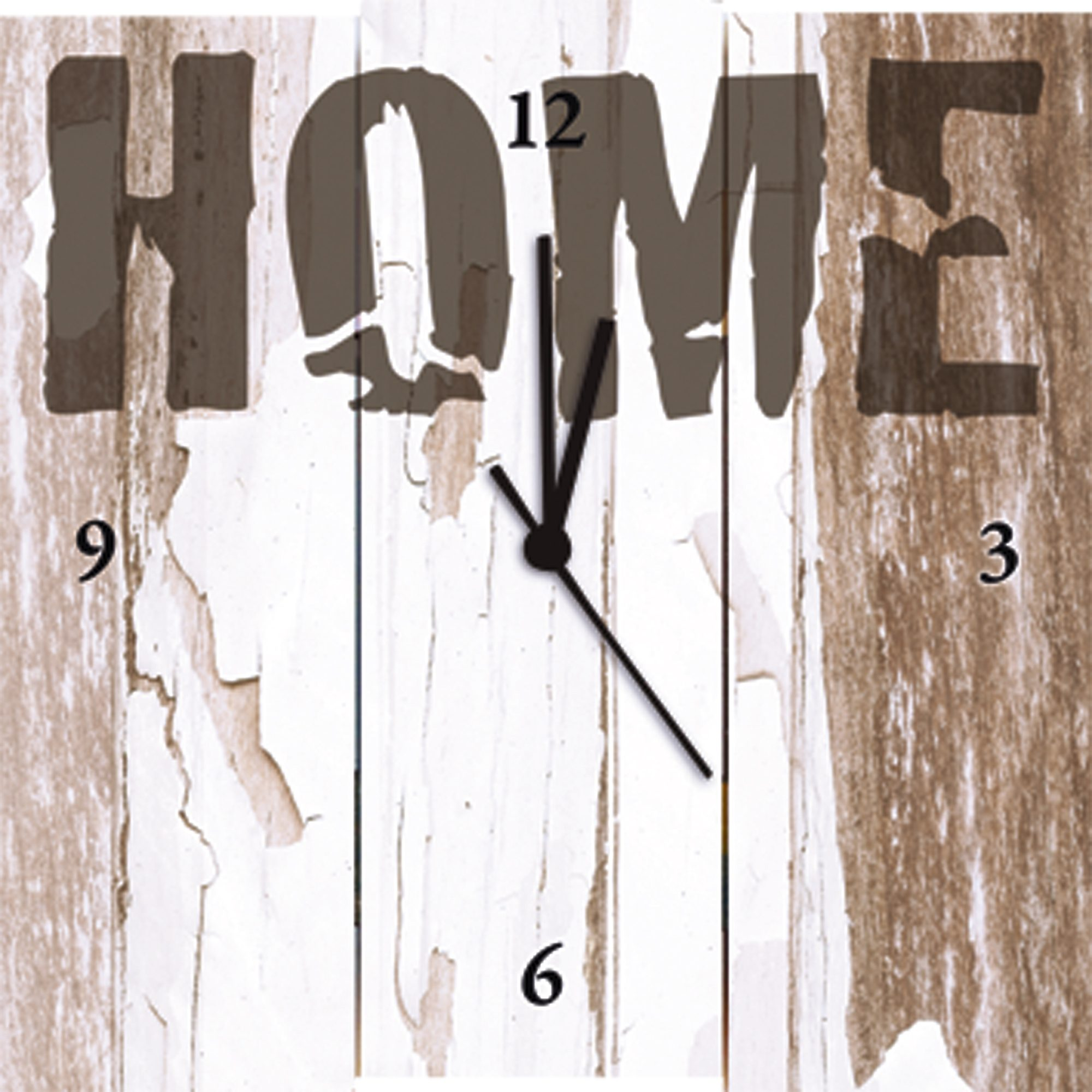 Wanduhr, Home affaire, »W. L.: Home«, 30/30 cm