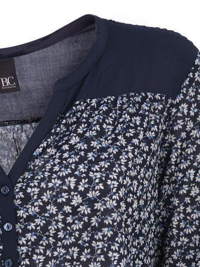 B.C. BEST CONNECTIONS by Heine Millefleurs-Shirt mit kleiner Knopfleiste