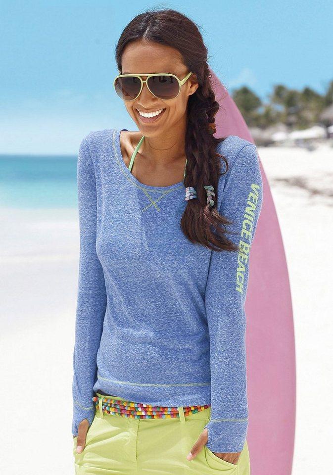 Venice Beach Langarmshirt in Blau mélange