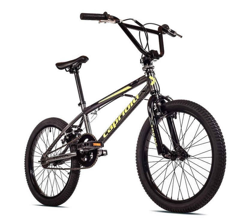breluxx BMX-Rad »20 Zoll BMX TOTEM grau, 360° Rotor-System, Freestyle Freilauf - inkl. 4 Pegs«, 1 Gang, ohne Schaltung