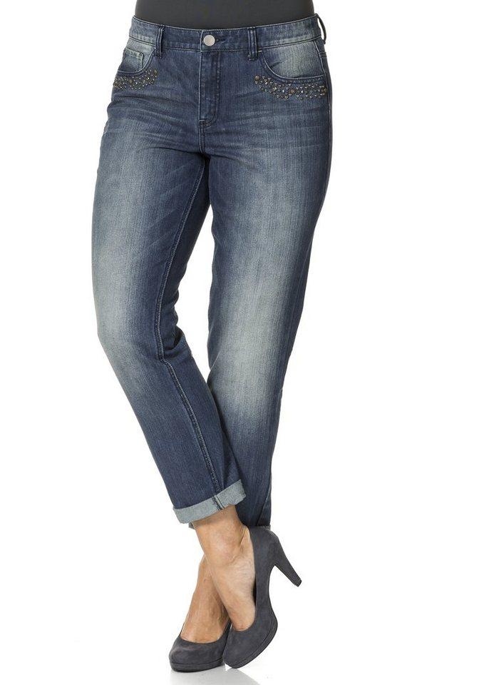 sheego Denim Boyfriend Jeans in blue denim