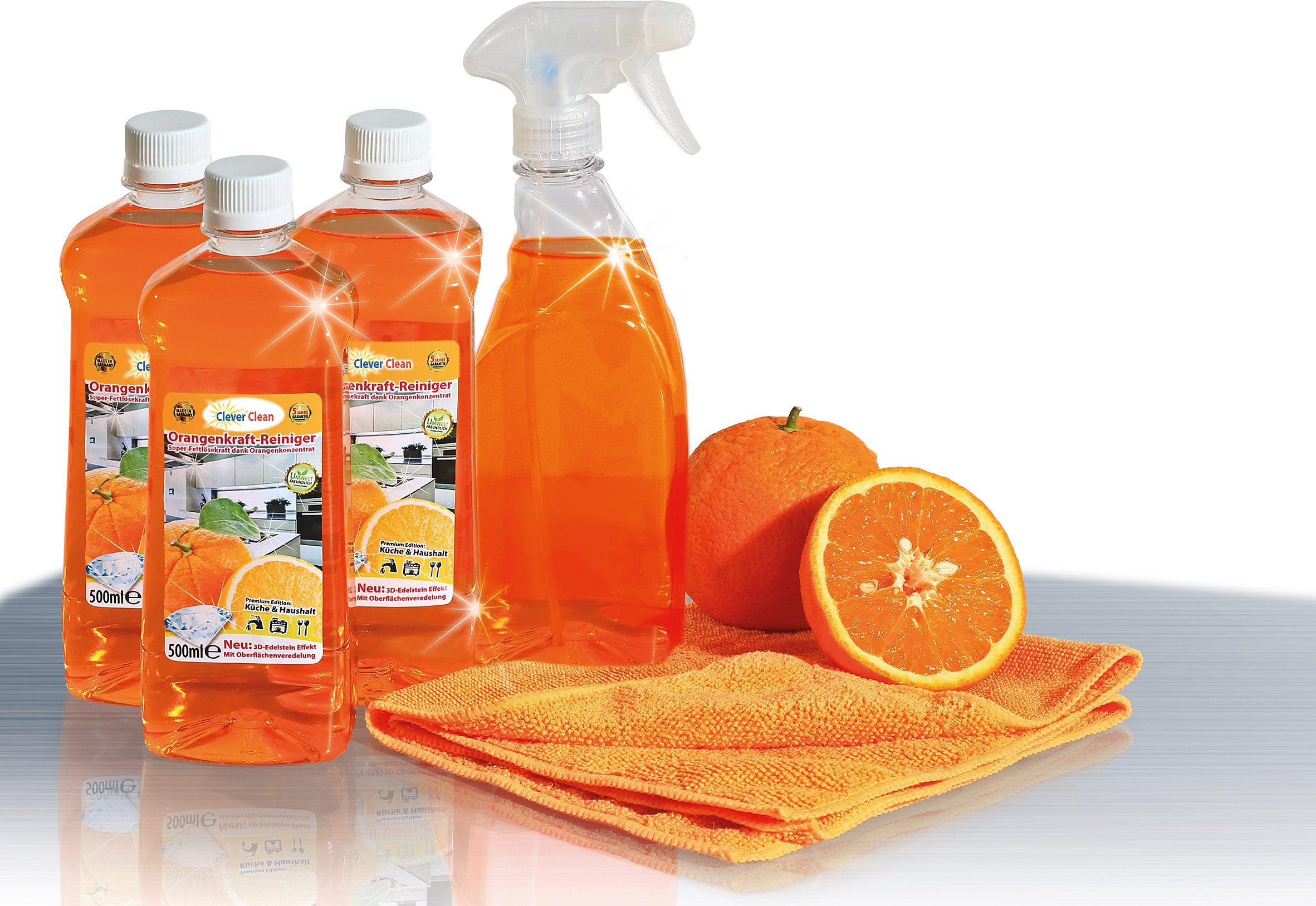 CleverClean® Orangenkraftreinigungs-Set (5tlg.)