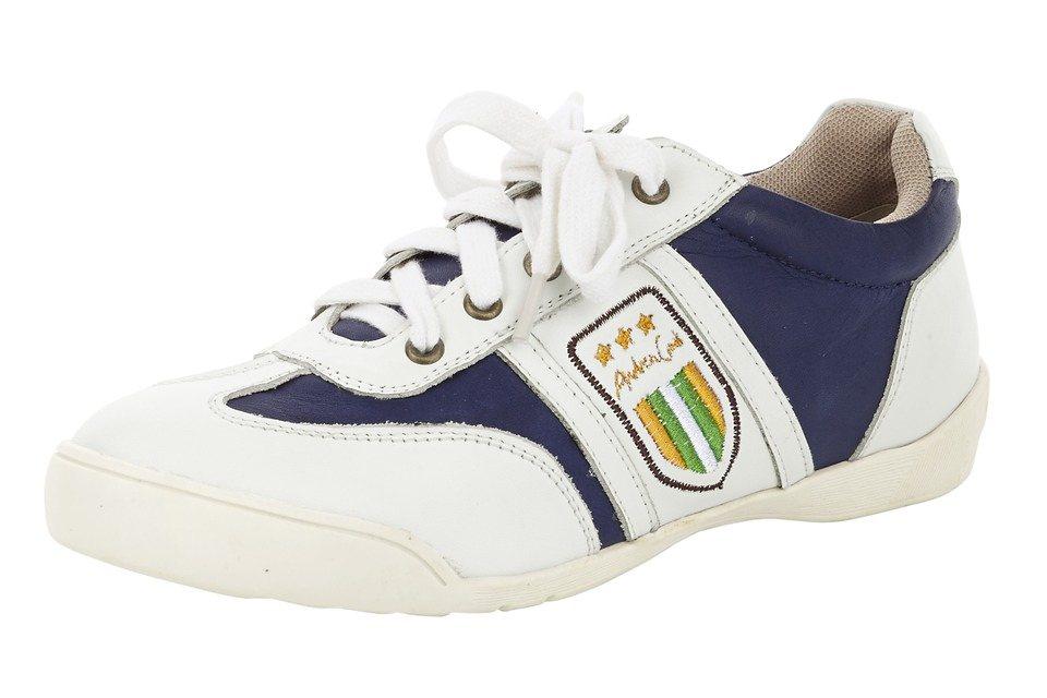 Sneaker in weiß/marine
