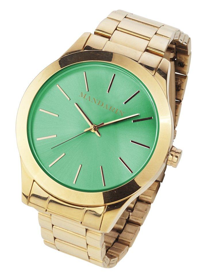 Heine Armbanduhr in grün/goldfarben