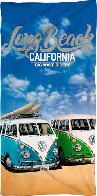 Volkswagen Strandtuch »Long Beach California« (1-St), mit Schriftzug