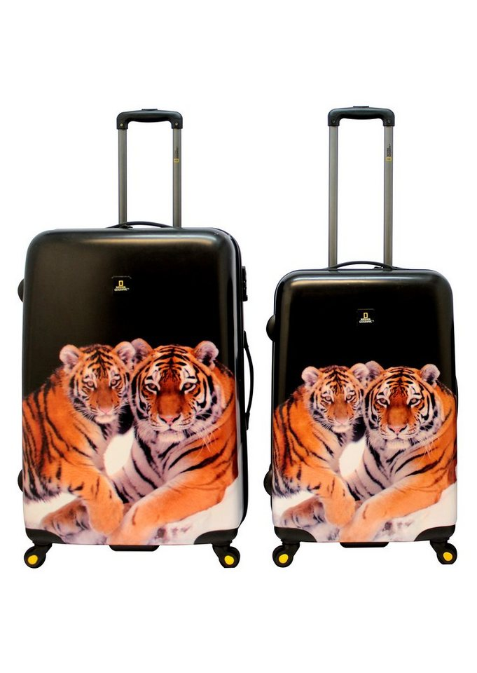 National Geographic, Trolley-Set mit 4 Rollen, Nature of Love , »Tiger« (2tlg.)