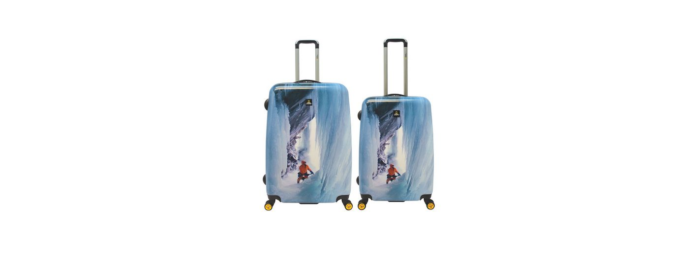 National Geographic, Trolley-Set mit 4 Rollen, Adventure of Life, »Glacier Climber«, (2tlg.)